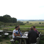 Dining with a view for bird watching, birders, birding, bird watchers