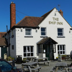 ship inn at langstone harbour for birdwatching, birdwatchers, birding, birders