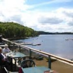 Loce Insh Boatouse Deck View, birdwatching from the restaurant, birders, birding