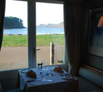 Shieldaig Bar view from restaurant birdwatching, birdwatchers, birding, birders