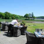 Waterside Terrace Dining ideal for birders, birdwatching, birdwatchers, birding